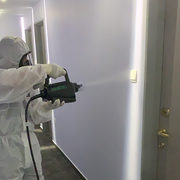 Disinfection Service | Hotel Hallway